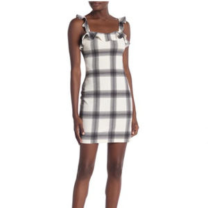 NWOT love...ady Sleeveless Plaid Ruffle Dress